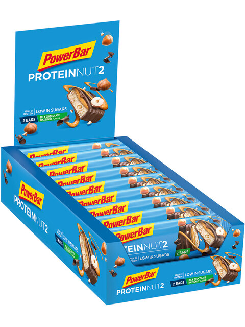 PowerBar Protein Nut2 Riegel Box Milk Chocolate Hazelnut 18 x 2 x 22,5g